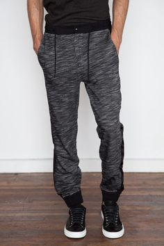 T by Alexander Wang Men's - French Terry/Matte Nylon Sweatpant