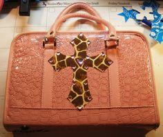 Added crosses and bling bling to my bible cover! Bible Covers, My Bible, Louis Vuitton Speedy Bag, Crosses, Bling Bling, Crafty, Bags, Handbags, Bag