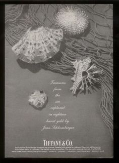1973 Jean Schlumberger sea shell clam jewelry Tiffany's vintage print ad