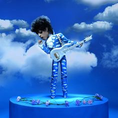 "Prince doing the ""cough"" at the beginning of the video for  ""Raspberry Beret."" (By Troy Gua.)"