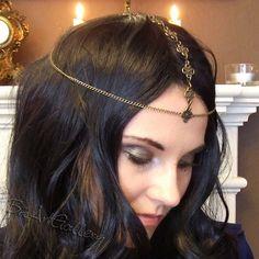 Gold Filigree Headdress / Chain Headband / Head Piece / Hair Accessory / Circlet / Headpiece / Bohemian Renaissance Medieval Celtic Jewelry on Etsy, $24.00
