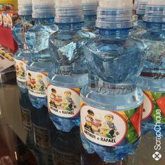 Festa Lego - água personalizada. #scrapchique #lego #festalego #aguapersonalizada #festameninos