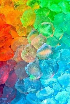 A rainbow of colorful stones. Love Rainbow, Taste The Rainbow, Over The Rainbow, Rainbow Colors, Happy Colors, True Colors, All The Colors, Vibrant Colors, World Of Color