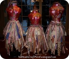 Red Heads Craft More Fun: Decorated Dress Form