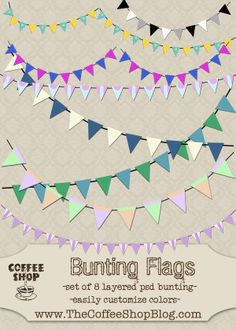 FINALLY!  A bunting flag set for PS!  I've been searching for months.  I love this blog.