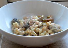 bean & mushroom gratin