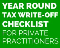 Tax Write-off Checklist for Therapists