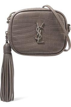 c351e5f8ce61 Saint Laurent - Monogramme Blogger croc-effect leather shoulder bag