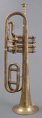 NMM 7077.  Trumpet in G, Austria (possibly Vienna), ca. 1840.