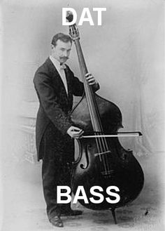 This is a picture of a composer and double bassist Sergei Koussevitsky. I played double bass very seriously in high school and earlier in college, about 7 years total. I also played violin for 9 years and just started teaching myself the acoustic guitar. Violin Family, Bass Ukulele, Bass Guitars, All About That Bass, Guitar Stand, Music Pics, Double Bass, Music Humor, Classical Music