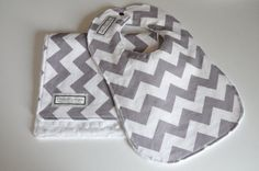 Hey, I found this really awesome Etsy listing at https://www.etsy.com/listing/98462086/baby-bib-and-burp-cloth-chevron-gray