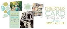 Christmas Card Templates from Simple as That - simple as that