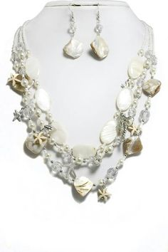 Pearl and Shell Beaded Necklace
