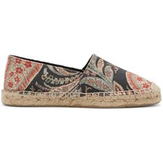Isabel Marant Multicolor Paisley Cana Espadrilles ($145) ❤ liked on Polyvore featuring shoes, sandals, espadrilles shoes, woven sandals, isabel marant shoes, multi color sandals and colorful sandals