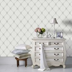 Graham & Brown offers the most striking geometric wallpaper on the market. Shop our collection of geometric wall coverings and large pattern wallpaper online. Decor, Home Decor Accessories, Interior, Striped Wallpaper, Grey Wallpaper, Grey Walls, Home Decor, Green Sofa Living, Pearl Wallpaper