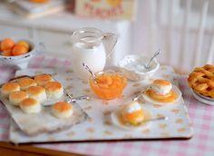 Miniature Making Peach Shortcake Set by CuteinMiniature on Etsy, $38.00
