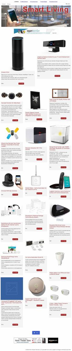 The site promotes the new Amazon's 'Smart Living Devices' page. This niche is very hot since it's related to fast growing technologies + gadgets + home.