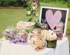 Wedding or Party Idea Rustic Theme #Candy Bar Had fun making it.