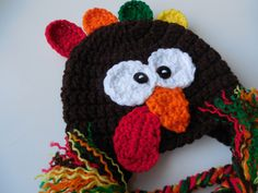Turkey Hat - Baby to Adult Sizing - Handmade Crochet - Thanksgiving Hat - Photo Prop - Made to Order by ShelleysCrochetOle on Etsy https://www.etsy.com/listing/213375462/turkey-hat-baby-to-adult-sizing-handmade