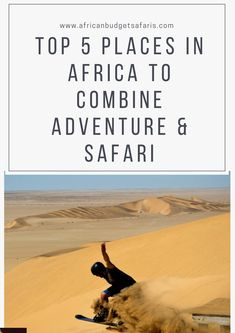 SAFARI & ADVENTURE? Yes please! Africa is full of amazing Big Five safari destinations but did you know that it is also an adrenaline-seekers paradise? If you're eager on heart-racing adventures, then read on for our Top 5 African safari and adventure destinations.   #safari #Africa #BudgetTravel #TravelBlog