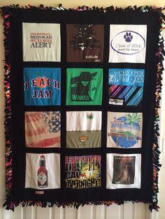 "The Original ""tied edge"" T-shirt Quilt"