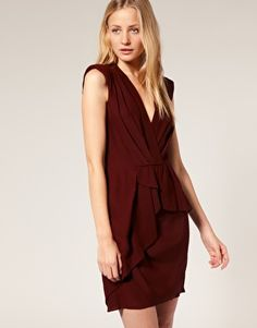 Whistles Drape Front Peplum Dress -- On Sale for $121.30
