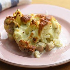 Sajtos-csirkés rakott karfiol