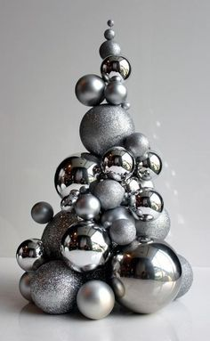 metallic ornament Christmas tree