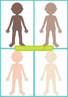 People Play Dough Mats – Free Printable from Picklebums
