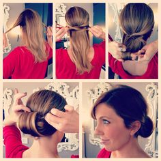 Easy updo literally took 5 mins and that was taking the step by step pics!  Tip Tuesday at Mirror | Mirror. www.mirrormirroraustin.com #beauty #updo #diy