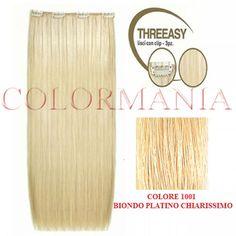 SHE KIT THREEASY 3 FASCE EXTENSION CLIP COLORE 1001 BIONDO PLATINO CHIARISSIMO