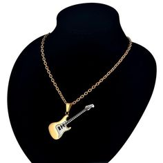 Guitar Pendant Necklace - Mr Peachy Necklace Price, Music Is Life, Types Of Metal, Guitar, Pendant Necklace, Electric, Silver, Jewelry, Jewlery