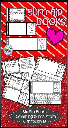 Six Flip Books to practice sums from 6 - 18  $  There are a total of 6 Sum Flip Books included...hope your students enjoy this fun holiday themed way to practice facts.