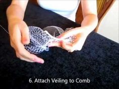 Perfect!! with a peacock feather!!   How to make a Birdcage Bridal Veil