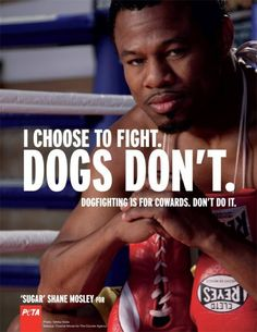I choose to fight. Dogs don't. Dogfighting is for cowards. Don't do it. - I have strong feelings about dog fighting! Don't throw away the life of a dog! They are man's companion, not a money-maker.