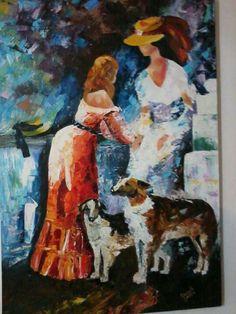 Fidelidad, cuadro sobre lienzo, trabajado  con espátula en óleo.