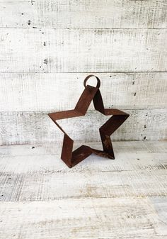 Metal Star Rustic Primitive Hanging Star Sculptured Metal Star Shaped Wall Hanging Vintage Country Farmhouse Decor Cottage Decor Rusty Star by TheDustyOldShack on Etsy