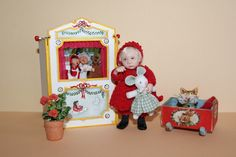 Résultat d'images pour muniere dolls Tiny Dolls, Ooak Dolls, Reborn Dolls, Art Dolls, Dollhouse Dolls, Miniature Dolls, Dollhouse Miniatures, Pull Wagon, Munier