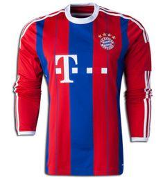 7556da0e4a8 BAYERN MUNICH 2014-15 season LONG SLEEVE HOME SOCCER JERSEY [1408232319] Fc  Bayern