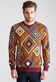 Tribal Print Sweatshirt | 21 MEN - 2000100309