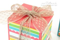 Stampin' Up! Demonstrator Pootles -Triple Jumbo Tea Light Box Tutorial Oh I am so naughty! I'm showing you new paper, cardstock and ribbon today and it's not available to you until June 2nd! This ...