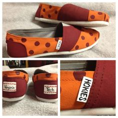 Hokie TOMS!! Put these on my feet now.