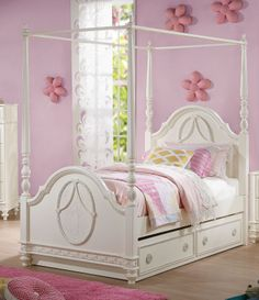 Dorothy Full Canopy Bed | Acme Furniture | Home Gallery Stores & Found it at Wayfair - Naples Canopy Bed | Bedroom | Pinterest ...
