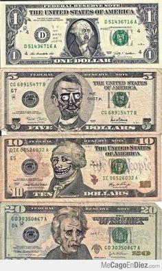 Caras familiares en los billetes
