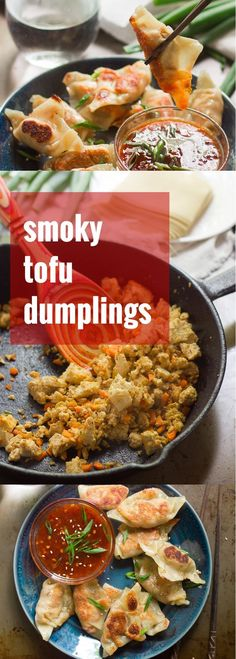 These smoky tofu dumplings are pan-fried to a delicious crisp and served with spicy sweet chili dipping sauce that whips up in minutes.