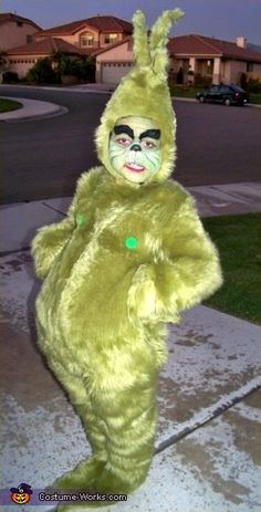 Did I mention my 4 yr old insists on dressing up as the Grinch this Halloween? Did I mention my 4 yr old insists on dressing up as the Grinch this Halloween? Grinch Halloween, Le Grinch, Halloween Costume Contest, Holidays Halloween, Fall Halloween, Happy Halloween, Halloween Party, Funny Halloween Costumes, Costume Ideas