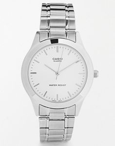 9103b63c318 Casio Silver Stainless Steel Strap Watch MTP1128A-7A Men Necklace
