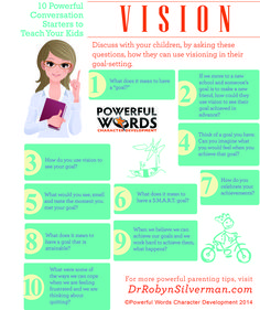 10 Great Conversation Starters to teach Your kids about Vision!