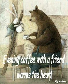 Evening #coffee with a friend warms the heart ♥