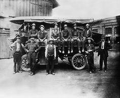 Empleados de la filial estadounidense de Iberdrola en 1910.